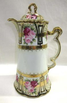 Decorative Collectibles Practical Vintage Small Pitcher Pink Purple Flowers Gilt Gold Accents Relief Floral Design Neither Too Hard Nor Too Soft Collectibles