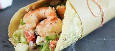Greek Salad Shrimp Wraps