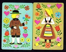 Vintage Swap/Playing Cards - Dutch Boy & Girl Pair
