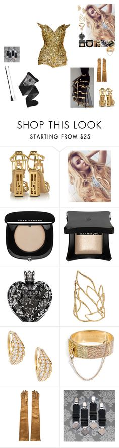 """""""Burlesque night, the phoenix, second number"""" by frostedrose ❤ liked on Polyvore featuring Zuhair Murad, Charlotte Olympia, Marc Jacobs, Illamasqua, Vera Wang, LORENZ, Alexis Bittar, Mimi So, Eddie Borgo and Mario Portolano"""