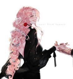 Made a character sheet for my new warlock, Loire Cerise! Pink Hair Anime, Anime Girl Pink, Anime Art Girl, Manga Girl, Anime Girls, Roses Draw, Girl With Pink Hair, Chica Anime Manga, Beautiful Anime Girl