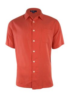 NEW Cremieux Sunwashed Silk/Linen Short Sleeve Shirt - M Dusty Cherry Red…