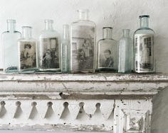 DELIGHTFUL CLUTTER...by Rose: Family in a bottle...I love this idea!