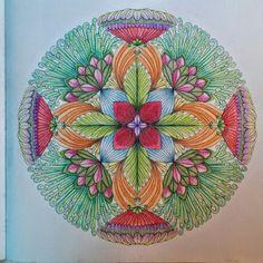 Tropical World Mandala using Tombow Irojitens.