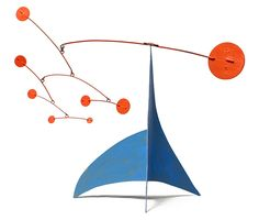 Model of Alexander Calder Stabile | Steel Plate, Steel Wire