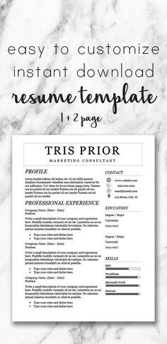 professional feminine resume template one and two page template cover letter reference sheet microsoft word