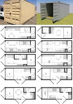 Tiny home - Shipping container home layout iContainer homes ~ Could be a tiny cabin, like the variety of layouts