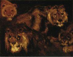 Theodore Gericault, Four Lions