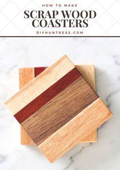 DIY Scrap Wood Coasters