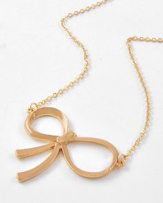 Beige Bow Necklace from Bows To Toes