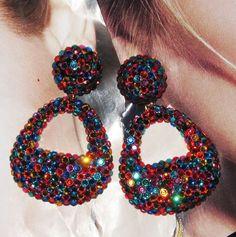 Gorgeous Designer Runway Earrings