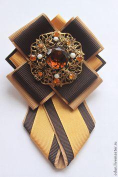 """Броши ручной работы. Ярмарка Мастеров - ручная работа Брошь - галстук """" Нарцисс """". Handmade."""