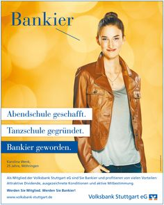 Campaign for VOLKSBANK STUTTGART by JoussenKarliczek