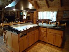 Grill Kitchen Hats Hibachi Flat Top Exactly What I Want In My House On French Lick Lodge Rental Island Grand Large Bar Sink Granite Counters
