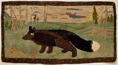 black fox crossing fields, artist unknown, Art Gallery of Nova Scotia