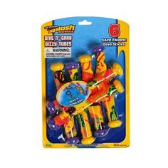 Prime Time Toys Water & Diving Games Dive N Grab 6 Pack - Colors May Vary by Prime Time Toys. $9.07. From the Manufacturer                Since the early 1990's, Prime Time has been producing fun, innovative toys and games that can be enjoyed both in and out of the water. Starting with the world famous Splash Bombs®, we have developed a line of water activities designed to give families hours of fun together. Just because Mom is sitting by the pool reading a book doesn