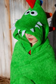 Items similar to Dinosaur Hooded bath towel/ Animal hooded towel/ Fun bath towel/swimming towel/Fun Towel/Kids towel on Etsy Baby Sewing Projects, Sewing For Kids, Diy For Kids, Toddler Towels, Mermaid Quilt, Towel Animals, Hooded Bath Towels, Towel Crafts, Diy Baby Gifts