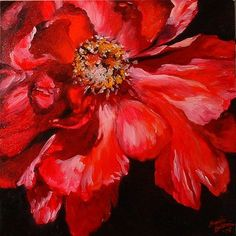 Red Peony - by Marcia Baldwin from Flower of the Month: Peonies art exhibit