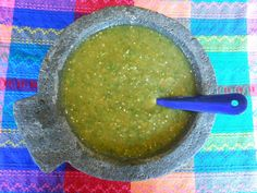 Recipe for a tangy and spicy authentic Mexican Salsa Verde.  A classic of Mexican food, this salsa verde is delicious with chips, quesadillas or as the foundation for enchiladas verdes.  You will simply love the freshness and layers of flavor. A winner from Jauja Cocina Mexicana!