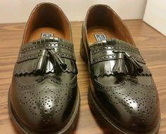 Bostian Men's size 9.5 (b) black leather slip on loafer Oxford dress shoes USA