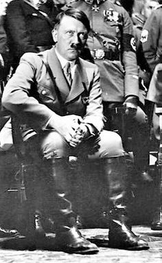 Magnificent photo of a pensive Fuehrer.
