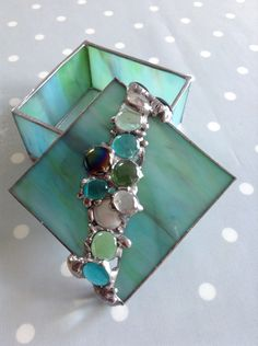 Stained Glass jewellery box with removable lid