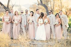 i like the calm nuetral colors for bridal party