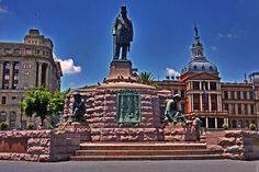 South Africa, Pretoria, Church sq, statue of P. African States, Port Elizabeth, Table Mountain, Kruger National Park, Pretoria, African Animals, City Buildings, Africa Travel, Best Cities