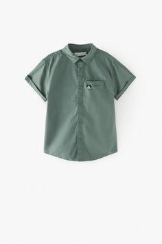 TECHNICAL-STYLE SHIRT | ZARA Spain Zara Spain, Zara Boys, Family Photo Outfits, Zara Fashion, Perfect Boy, Zara United States, Cuff Sleeves, Boys Shirts, Collar Shirts