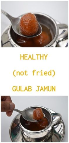 Healthy Gulab Jamun (without frying) - Upgrade My Food Indian Dessert Recipes, Sweets Recipes, Cooking Recipes, Indian Sweets, Cake Recipes, Healthy Deserts, Healthy Recipes, Tasty Snacks, Keto Recipes