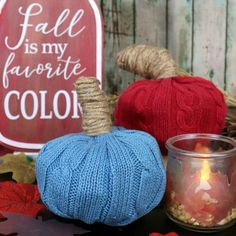 Make this no sew sweater pumpkin from your old cable knit sweaters. Or head to the thrift store and upcycle some sweaters into fall decor. Old Sweater, Cable Knit Sweaters, Reuse, Upcycle, Fall Crafts, Diy Crafts, Alter Pullover, Sweater Pumpkins, Creative Pumpkins