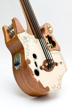 Steampunk ukulele Bass 20 scale by celentanowoodworks on Etsy