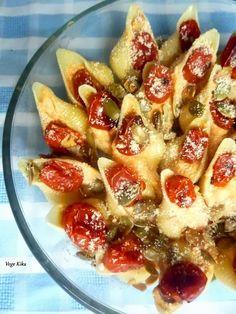 Conchiglioni with pumpkin & roasted chery tomato