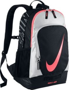 Nike Court Tech Backpack Black/Metallic Silver/Hot Lava - Nike Sport Bags | Nike | Ebags | What a Great Backpack!
