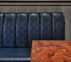 Custom Booth Seating and Millwork Restaurant Seating, Booth Seating, Commercial Furniture, Ottoman, Chair, Home Decor, Decoration Home, Banquettes, Room Decor