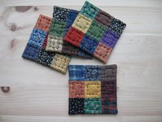 Quilted Coasters Rustic Primitive Decor Country Decor by dlf724, via Etsy.