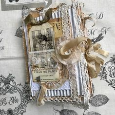 """47 Likes, 7 Comments - Bohemian Rhapsody GB (@bohemianrhapsody3038) on Instagram: """"My most recent Junk journal No 3 in my Vintage Paris trilogy, it is now Sold. #junkjournal…"""""""