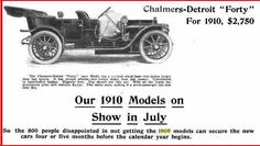 1910 Chalmers-Detroit Automobile Advertisement