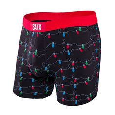 'Tis the season - get into the spirit with these holiday light boxers from Saxx Vibe.