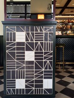 Ace Hotel featuring Sitio tiles and Medina Black and White cement tiles.