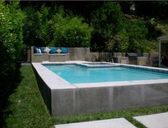 These days, I am on some sort of a strange classic country kick. Above Ground Pool Landscaping, Above Ground Swimming Pools, In Ground Pools, Raised Pools, Outside Patio, Life Aquatic, Spanish Style Homes, Small Pools, Plunge Pool