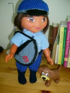 Knitting Pattern For Dora The Explorer Doll : Dora and Boots Patterns on Pinterest Dora The Explorer, Perler Patterns and...