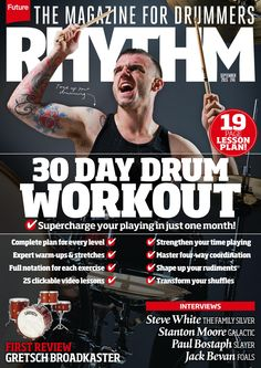 #Rhythm Magazine 246. 30 day #drum workout.