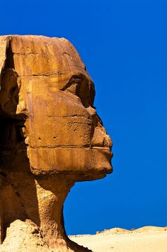 The Sphinx, the Great Pyramids of Giza, outside Cairo, Egypt
