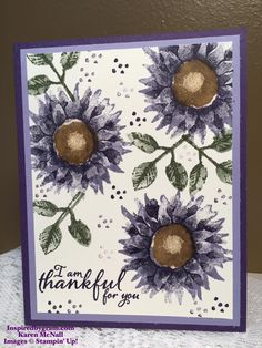 By Karen Kirby McNall on FB. Inks:  Elegant Eggplant, Wisteria Wonder, Soft Suede, Always Artichoke. Wink of Stella in center.   http://inspiredbygram.blogspot.com/