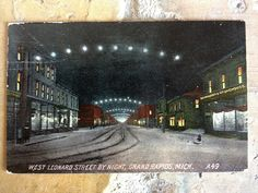 West Leonard Street by night - 1910