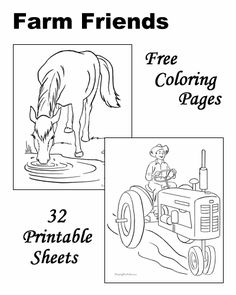 These Free Printable Farm Coloring Sheets Of Pictures Are Fun For Kids