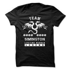 Awesome Tee TEAM SIMINGTON LIFETIME MEMBER Shirts & Tees