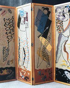 Jean Lurçat screen in Pierre Chareau's La Maison de Verre Art Deco Furniture, Unique Furniture, Pierre Chareau, Wooden Screen, Space Gallery, Modern Love, Sculpture, Art Deco Design, Architectural Digest
