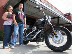 Blaine & Bree' came from Labadville, La. to buy their first Harley-Davidson with us, Dyna Street Bob!  Congrats from all of us @ #mikebrunosbayoucountryharleydavidson